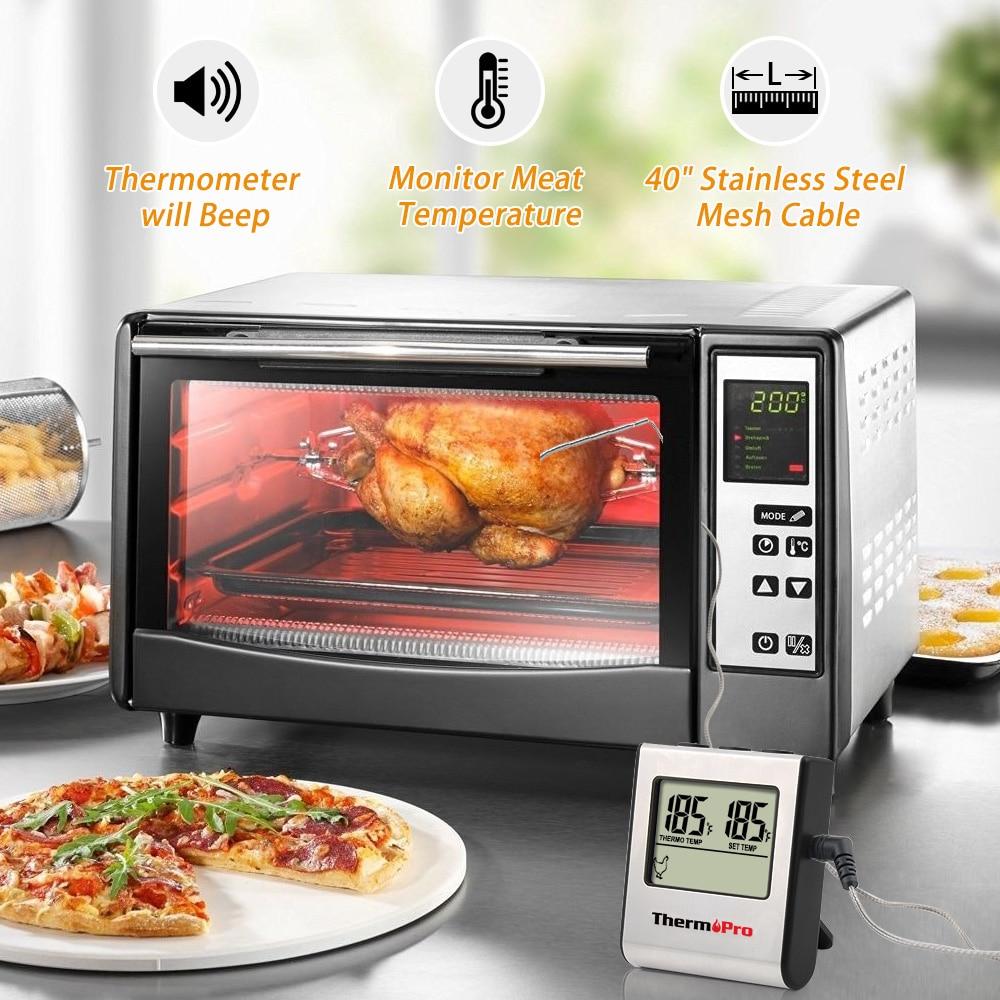 Image 4 - ThermoPro TP16 デジタルバーベキュー肉温度計グリルオーブン Thermomet タイマー