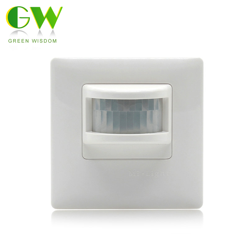 цена на Mi.Light PIR Infrared Motion Sensor Switch AC180-240V 50Hz Wall Type Human Body Induction Switch