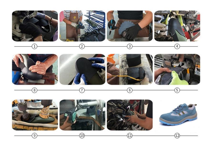Unisex degli uomini Respirabili di Estate Stivali Da Lavoro Puntale In Acciaio Scarpe di Sicurezza Del Cuoio Genuino Della Maglia di Pesca All'aperto Scarpe Da Tennis Degli Uomini scarpe