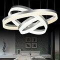 modern led crystal pendant light 2 3 ring for living dining room kitchen Circles Suspension pendant lights fixture lamp lighting