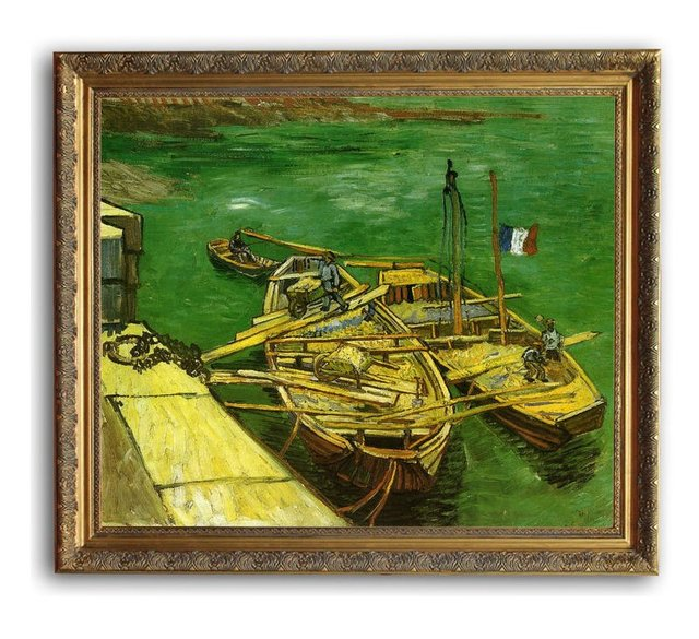 6040 wooden oil painting frames sand barges van gogh art 20x24 - Wholesale Arts And Frames