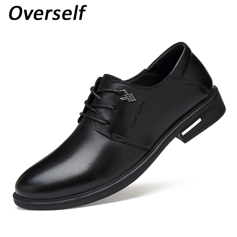 Men's Dress Shoes Genuine Leather Formal Shoe For Men High Quality  Mens Oxfords Business Formal Flats Luxury Wedding Style top quality crocodile grain black oxfords mens dress shoes genuine leather business shoes mens formal wedding shoes