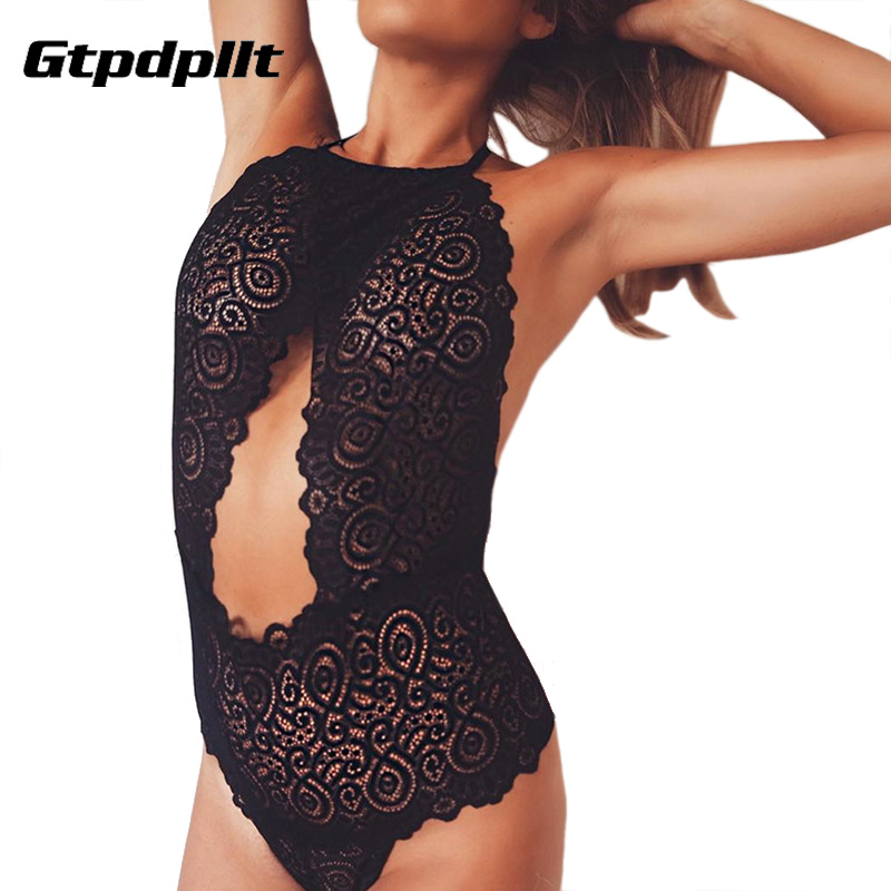Gtpdpllt Sexy Lace Bodysuit Women Bandage 2017 Summer Backless Black Playsuit Bodycon Rompers   Jumpsuit   Overalls body feminino