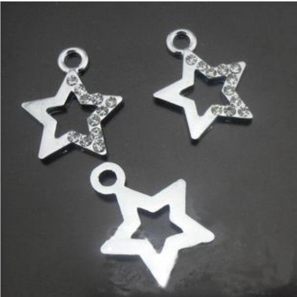 Free Shipping! Alloy Half Rhinestone Star Pendant Charms DIY Jewelry  Accessories For DIY Bracelet Necklace ddb2aebda134