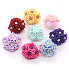 1pcs Birthday Cake Topper Wedding Decorative Insert Card Baking Cake Decoration Little Flower Ball Party Dessert Dress Up(China)