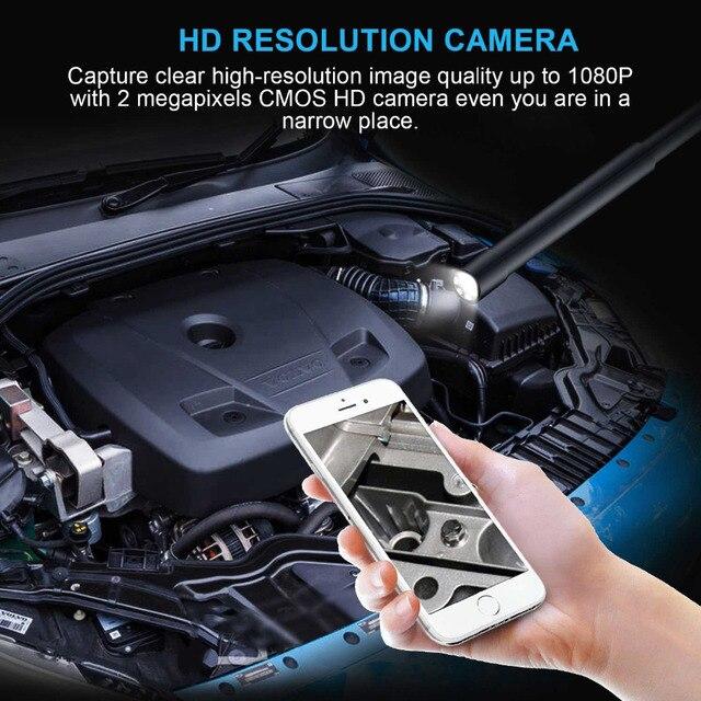 Camara sem fio do endoscópio de kzyee hd1080p com 6 leds wifi 2.0 megapixels inspeção de borescope para o telefone android e iphone