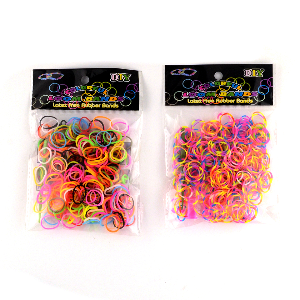300PCS Rainbow Colorful Mix Loom Bracelet Rubber Bands Kits Craft Toys With 12 Clips 1 Hook DIY For Loom Bracelet For Children