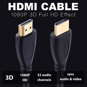 Image 3 - Groothandel 100 Stks/partij Hdmi Kabel High Speed Video Kabels Vergulde Kabel 0.3M 1M 1.5M 2M 3M 5M 7.5M 10M 15M Voor Hd Tv Xbox PS3