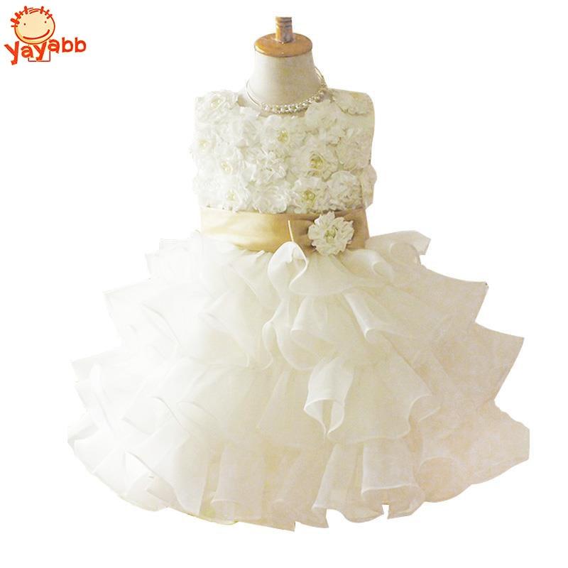 Girl Dress Chiffon kids Clothing Summer Kid Dresses For Girl White Princess Dress Party Dresses