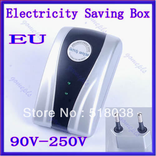 A25 Free Shipping New Type Power Electricity Saving Box Energy Saver EU Plug 90V-250V
