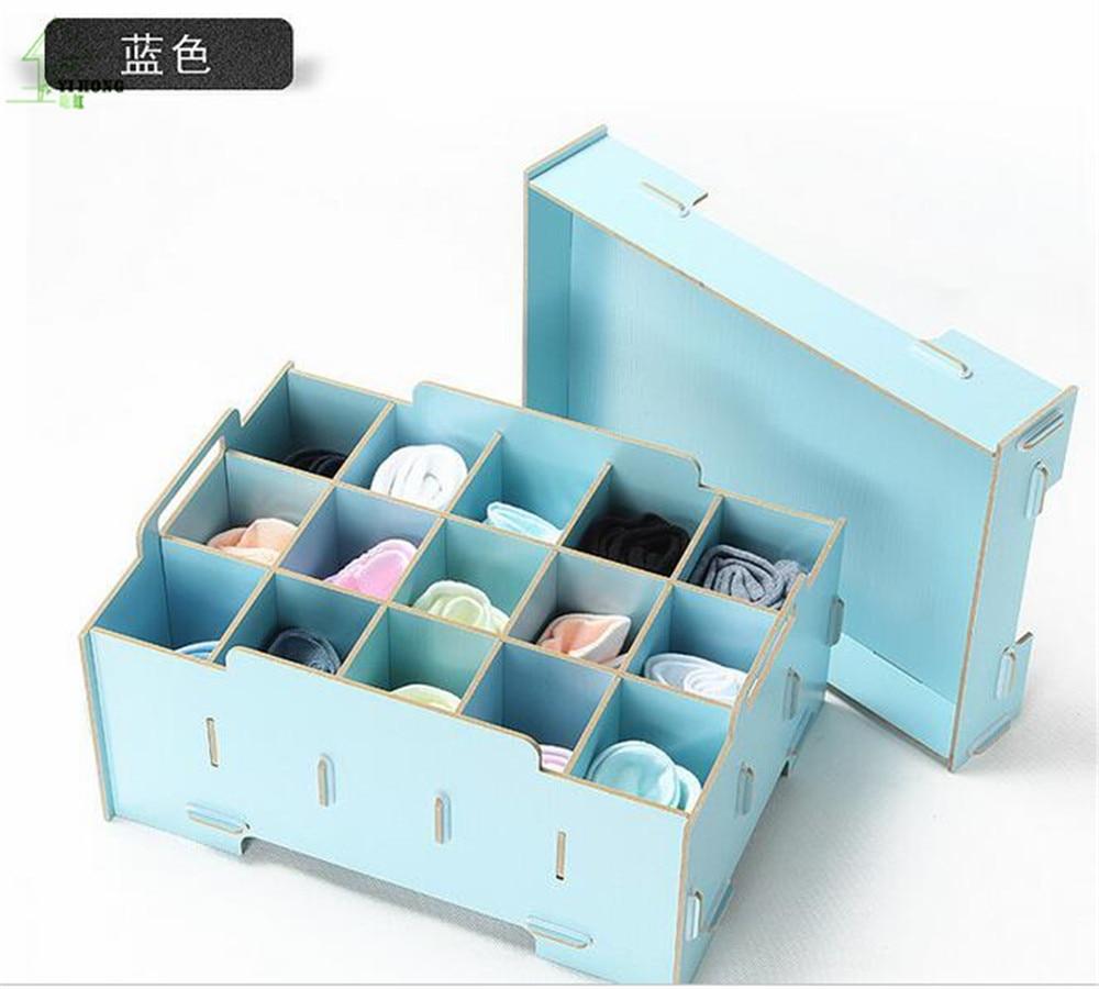 YIHONG mode bijoux A1049 cosmétiques bricolage boîte de rangement en bois boîte à bijoux sous-vêtements chaussettes boîte de rangement