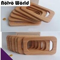 2 Pairs = 4 Stücke, 3 Farben 16,5X9,5 cm Massivholz Rechteckigen Griffe Für Frauen Taschen Hanger geldbeutel Griff Charming Fashion Holz