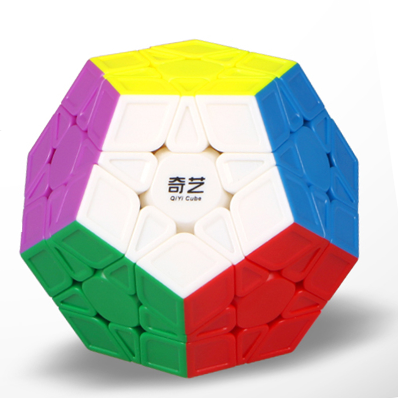 Qiyi Megaminx Magic Cube Stickerless Speed Professional 12 Sides Puzzle Cubo Magico Educational Toys For Children Megamind Black