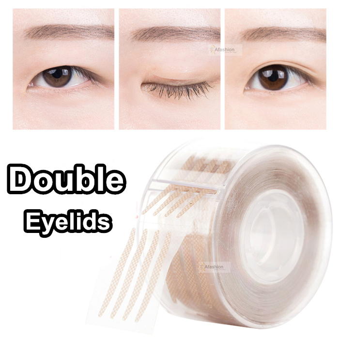 600pcs S Or L Double Eyelid Stickers Invisible Fold Double Eyelid Tape Strong Adhesive Big Eye Stripe Makeup Lift Tools