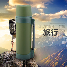 2016 NEW Camouflage thermal insulation water bottle 1300ml big size three colors thermos portable for HIKING Climbing Camping 1l large capacity thermos nordic thermal insulation kettle household thermal insulation pot glass liner thermos hot water bottle