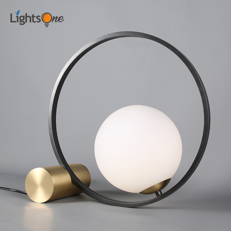 Creative modern minimalist bedroom study office bedside table light living room Nordic post modern minimalist table