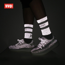 harajuku socks men hip hop dress novelty crew socks cotton fashion Designer brand luxury Babysbreath Luminous socks neon gift AJ