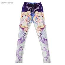 Fullprint Cool Leggings Fashion Women's Sailor Moon Lolita Doll Print Trousers Stretchy Sexy Galaxy Pencil Pants Women Capris