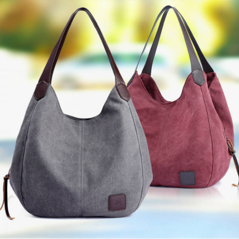 2019 Handbag Solid Color High Quality Shoulder Bag Hot Luxury Brand Female Canvas Bag Ladies Casual Tote Bags Bolsas Feminina