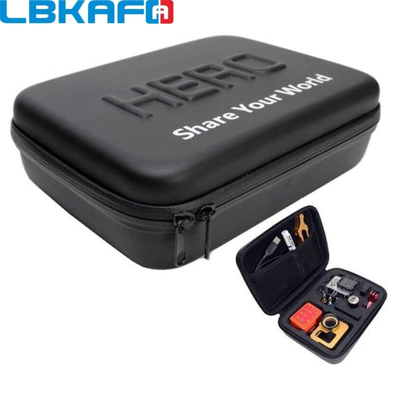 LBKAFA For Gopro Shockproof Waterproof Case Bag For SJCAM SJ4000 SJ5000 SJ6 SJ7 Go Pro Hero 7 6 5 4 3+ YI Bag Camera Accessories