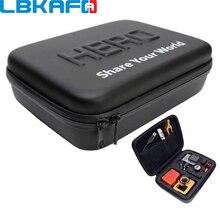 LBKAFA עבור Gopro עמיד הלם מקרה עמיד למים תיק עבור SJCAM SJ4000 SJ5000 SJ6 SJ8 ללכת פרו גיבור 8 7 6 5 יי תיק מצלמה אבזרים