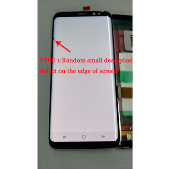 5.8'' S8 LCD+frame for SAMSUNG Galaxy S8 G950 G950F Display S8 Plus G955F Touch Screen Digitizer Replacement small dead pixel