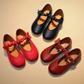 Children Shoes Girls Leather Rubber Shoes Sweet Girls Princess Shoes Bow Kids Sandals Fashion Ballerina Shoes Girls