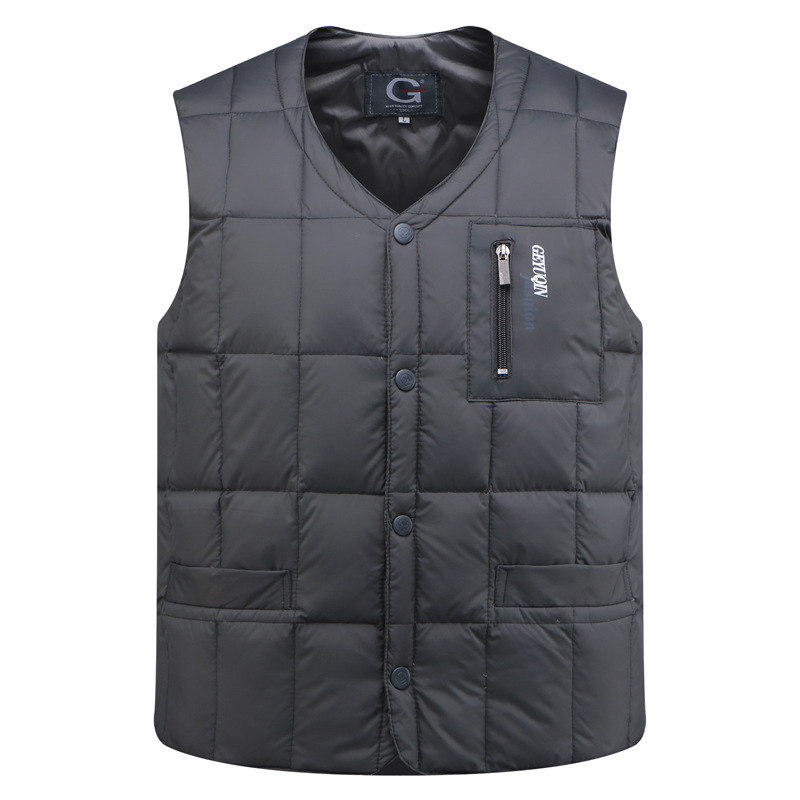 Winter Parka Sleeveless Vest Thick Slim White Goose Down Men Bodywarmer Duck Down Jacket Mens Warm Vest Waistcoat 3XL