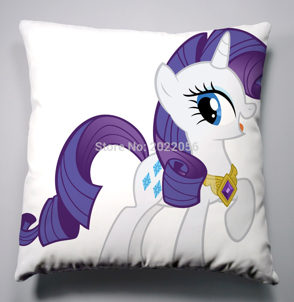 ᑎ‰Anime My Little Pony Rainbow Horse Almohadas 40x40 cm Fundas De ...