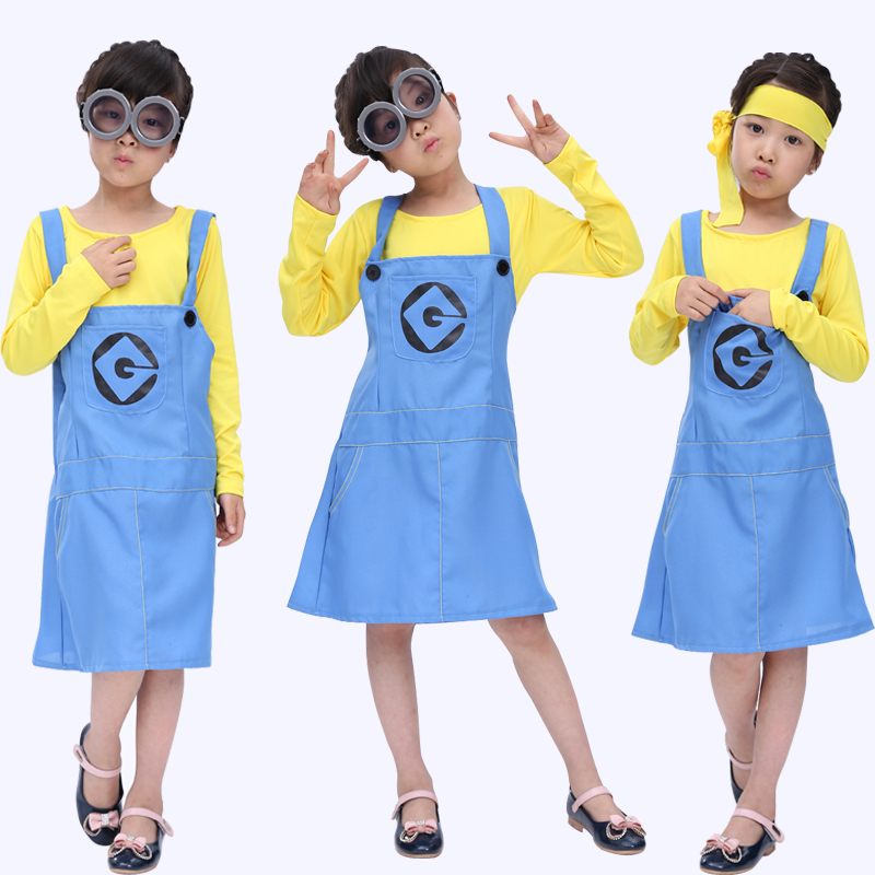 Free shipping  now Halloween costumes Children's Day doll small yellow cartoon show clothing cute girls cosplay costume
