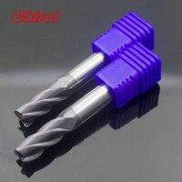 ZCC CT 5pcs Lot GM 4R D10 0R1 0 Solid Carbide 4 Flute End Mills Corner