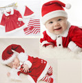 12-24M Baby Girl Christmas Outfits Long Sleeve Dress Baby Boy Christmas Set Clothing Kids Children Christmas Clothes infant