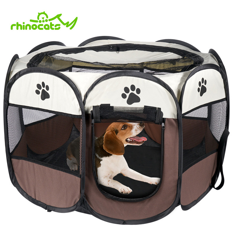 Dog House Cage for Cats Pet Puppy Bed Outdoor Dog Kennel Crate Park Tent Fence Nest Playpen for Small Medium Dogs Animals Supply