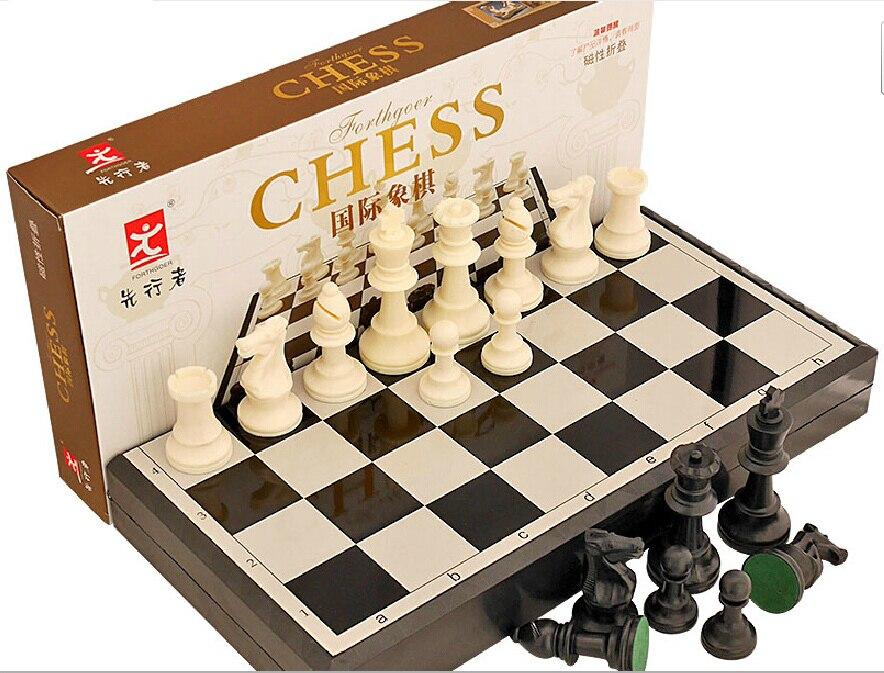 높은 품질의 아크릴 자기 휴대용 음소거 접는 국제 체스 큰 크기 40cm 게임 버전 표준 점보 교육