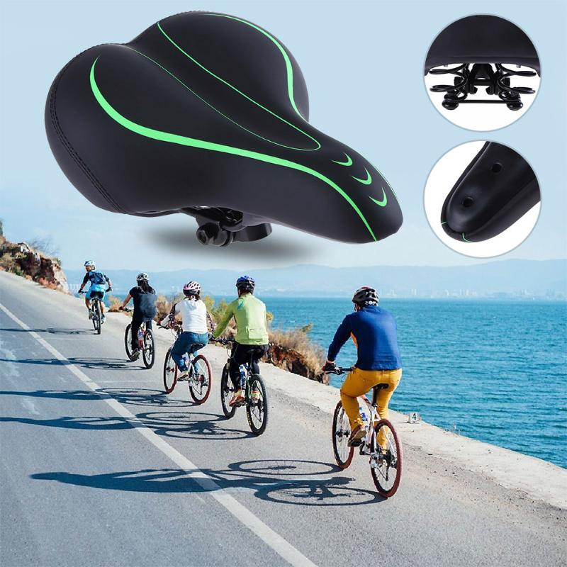 Soft MTB Bicycle Seat Bicycle Saddle PU Leather Bike Cycling Seat Cover Saddle Pad Cushion Bicycle Seats Bicycle Accessories lietu cycling bicycle pu saddle pad black green