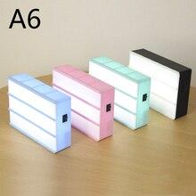 Caja de luz nocturna con combinación de luces LED, caja de luz de cine alimentada por USB, con tarjetas de letras negras, tamaño A4 A6