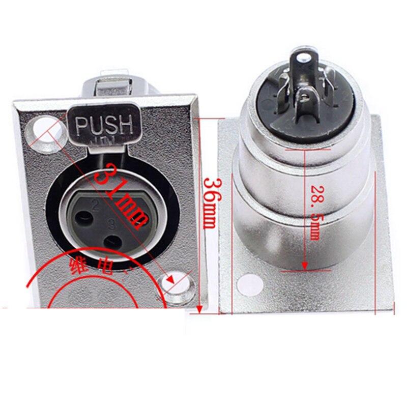 100 шт. высокое качество Прямоугольный 3-контактный XLR Connnector гнездо профессии звука XLR разъем Adpater