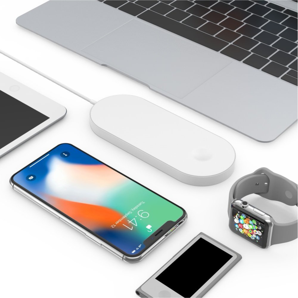 Airpower For iWatch 2 3 QI Wireless Charger For iPhone X 8 8plus Quick Fast Charging Pad For Apple Watch Sumsang S9 S8 S7 S6 15