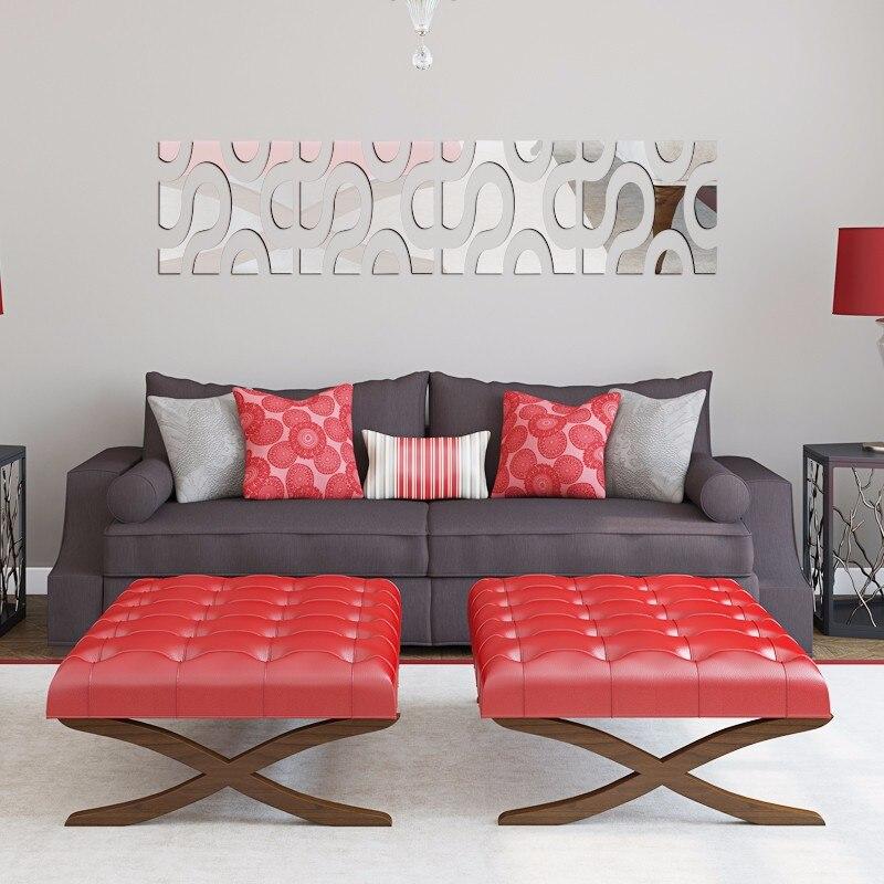 moza unidslote decoracin del hogar x cm grande d oro gran espejo de pared pegatinas creativas espejos decorativos para