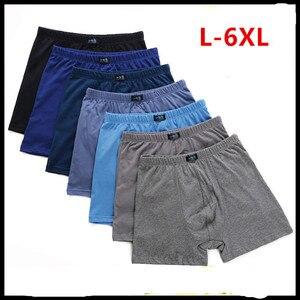 6pcs/set Large loose 6XL male cotton Underwears Boxers high waist breathable fat belts Big yards men's underwear plus size