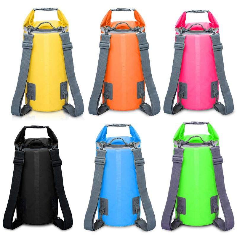 цена на 5L/10L/15L/20L Waterproof Dry Bag Sack Pouch Boating Kayaking Camping Rafting Swimming Tourism Storage Foldable Backpack