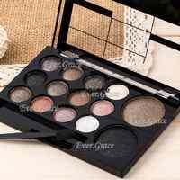 ICYCHEER Neutral Nude 14 Colors Makeup Eye Shadow Shimmer Warm Eyeshadow Palette Pigmented Smoky Silky Kit