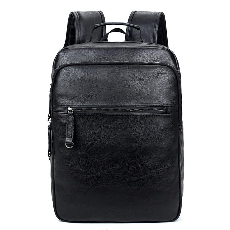 Luxe merk bookbags mannen rugzak leer mannelijke functionele tassen - Rugzakken - Foto 2