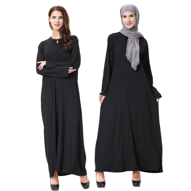 d924a4678d US $40.0 |2017 Real Promotion Muslim Women Dress Adult Casual Islamic  Clothing Abaya Black Turkish Malaysia Th905 Rayon Ethnic Arab Robes-in  Islamic ...
