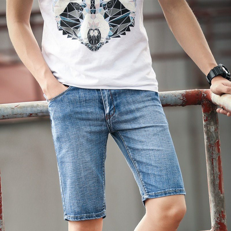 summer of 2018 with cotton denim shorts jeans at five to male remaining water cultivate  ...