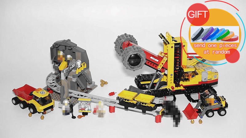 02102 989Pcs City Series The Mining Experts Site Set Building Blocks Compatible with 60188 Toys Gifts lepin ynynoo lepin 02043 stucke city series airport terminal modell bausteine set ziegel spielzeug fur kinder geschenk junge spielzeug