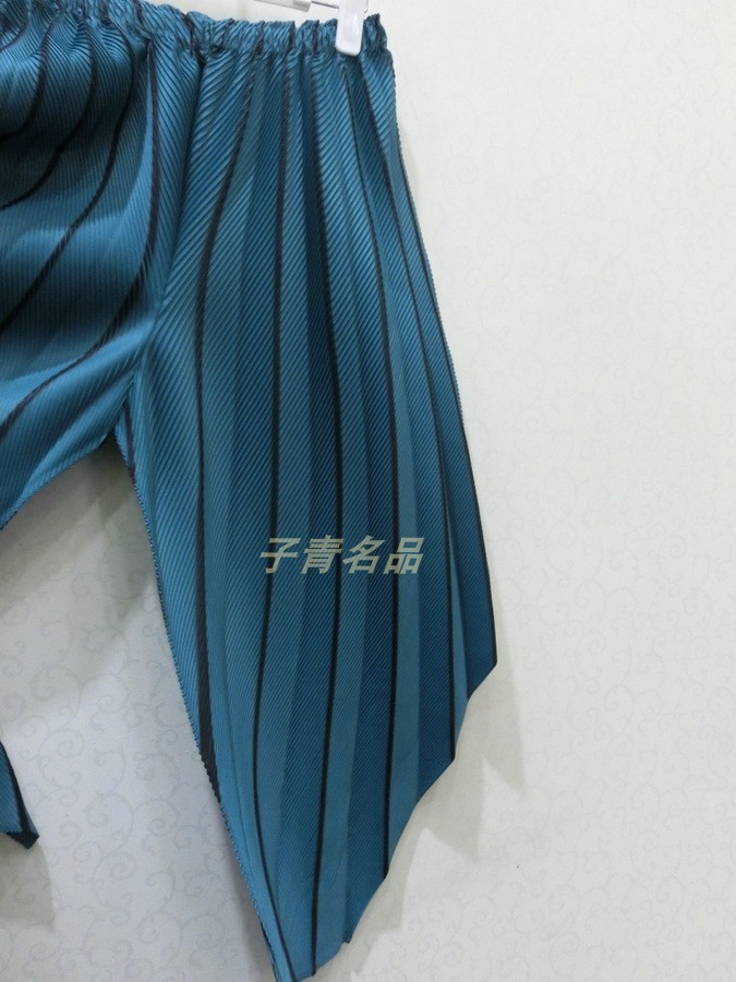 Automne P7976 Changpleat Élastique Sarouel See see Femelle Pantalon Miyak La Mode Personnalité Plissée Chart Taille Marée 2018 Recadrée De Chart Femmes a5qgpr15