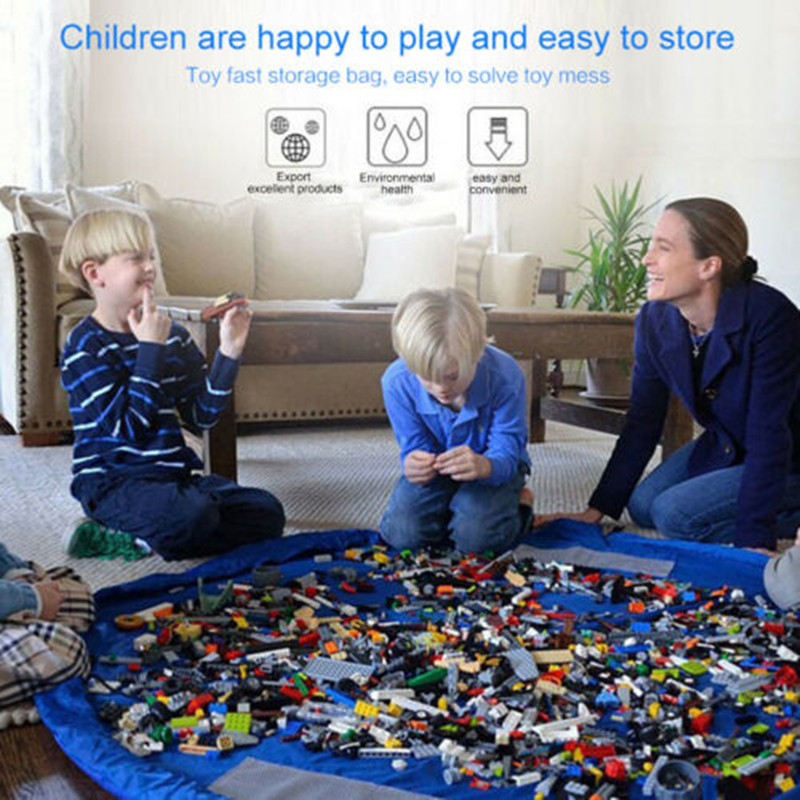 Mat Organizer Storage-Bag Lego-Toys Washable Kids Play-Mat Rug Picnic 50cm/150cm