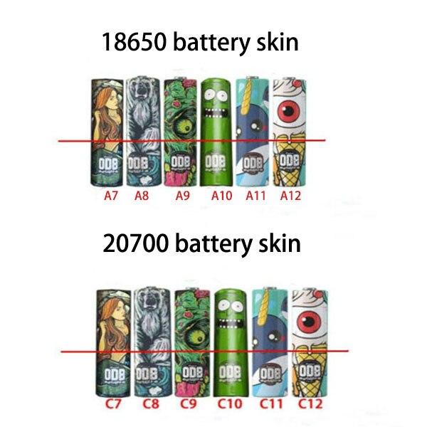 52030PCS Colorful 1865020700 Battery Wrapper PVC Heat Shrink Tube Battery Skin Sticker