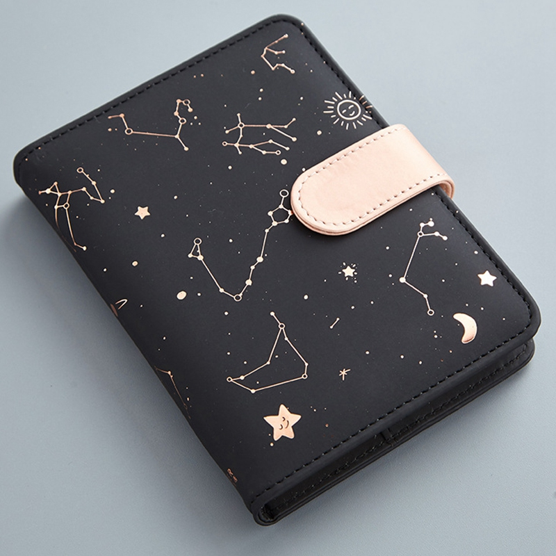 Cute Monthly Daily Planner Lined Study Notebook Journal Travel Black in Notebooks from Office School Supplies